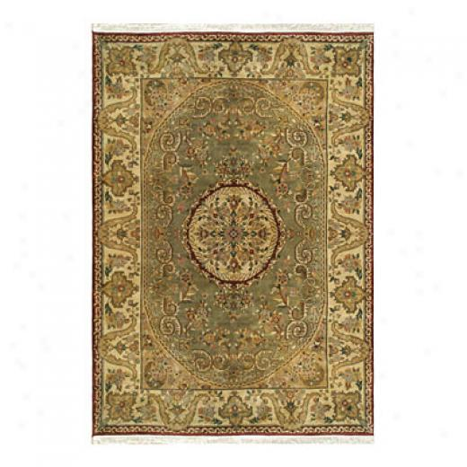 Nejad Rugs Signature Heirloom 5 X 7 Fine Savaneri Sage/gold Area Rugs