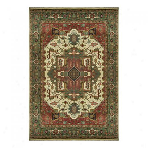 Nejad Rugs Signature Heirloom 10 X 14 Heriz Antique Ivory/emerald Green Area Rugs