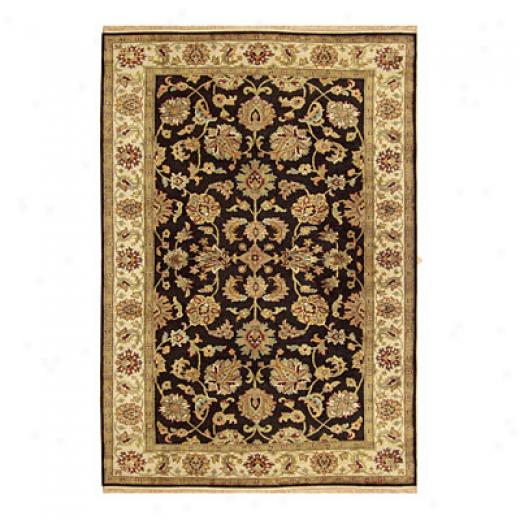 Nejad Rugs Signature Legacy 6x9 Agra Black/antique Ivory Area Rugs