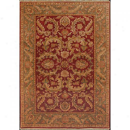 Nejad Rugs Signature Masterpiece 10 X 14 Kashan Light Green/ivory Area Rugs