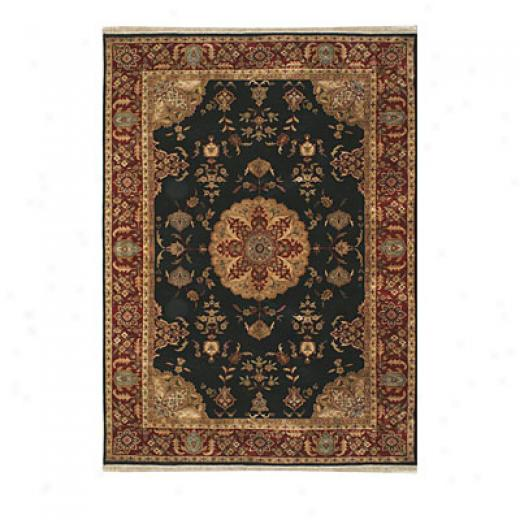 Nejad Rugs Signature Masterpiece 5 X 7 Signature Tabriz Med Black/burgundy Area Rugs