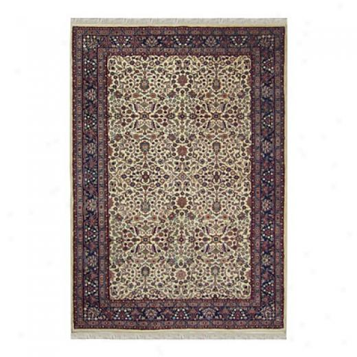 Nejad Rugs Signature Traditional 2 X 4 Tabriz Ivory/navy Area Rugs