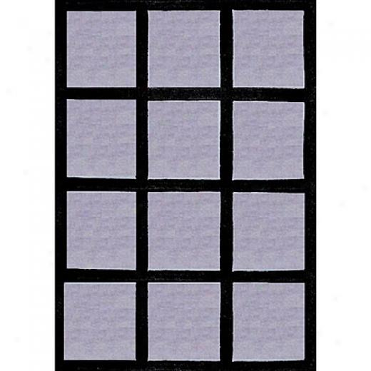 Nejad Rugs The Bright Collectoin 4 X 6 Horizon Blue/black Area Rugs