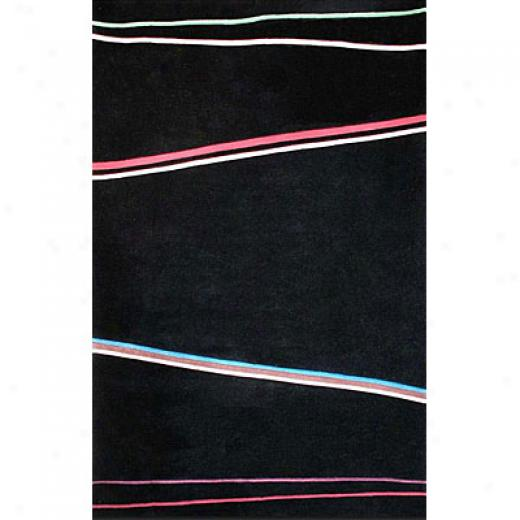 Nejad Rugs The Bright Collecfion 8 X 11 Matrix Black/multi Area Rugs