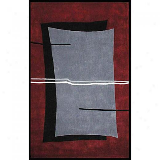 Nejad Rugs The Bright Collection 8 X 11 Flash Grey/burgundy Area Rugs