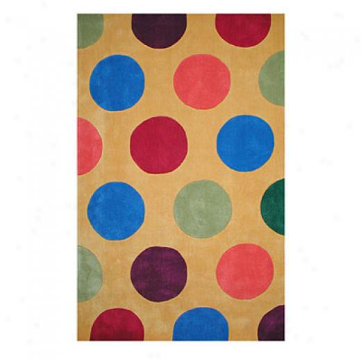 Nejad Rugs The Bright Collection 8 X 11 Dots Yellow Area Rugs