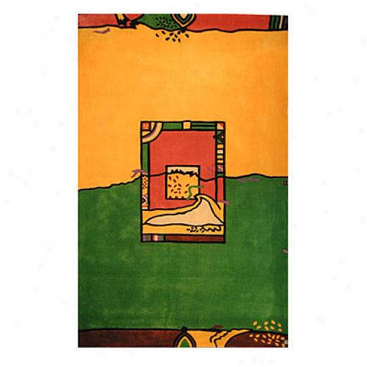 Nejad Rugs The Bright Collection 4 X 6 Green Fields Yellow/green Area Rugs