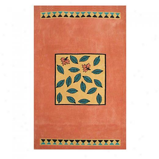 Nejad Rugs The Bright Accumulation 4 X 6 Garden Leaves Area Rugs