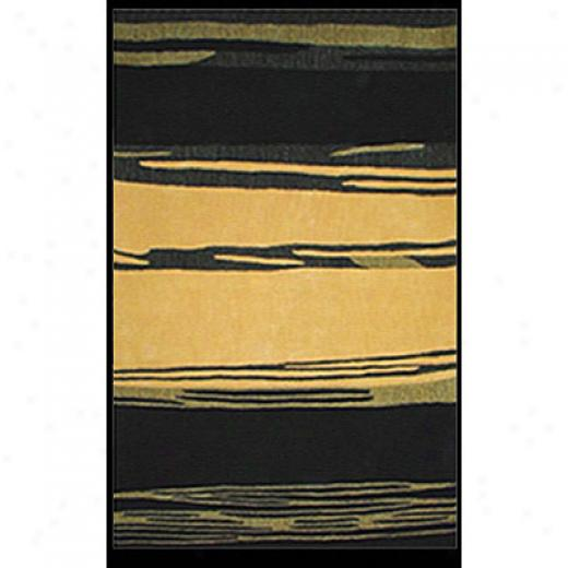 Nejad Rugs The Bright Collection 8 X 11 Horizon Yellow/black Region Rugs