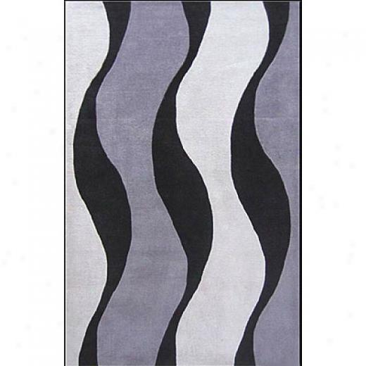 Nejad Rugs The Bright Collection 4 X 6 Winds Of Africa Slate/slate Area Rugs