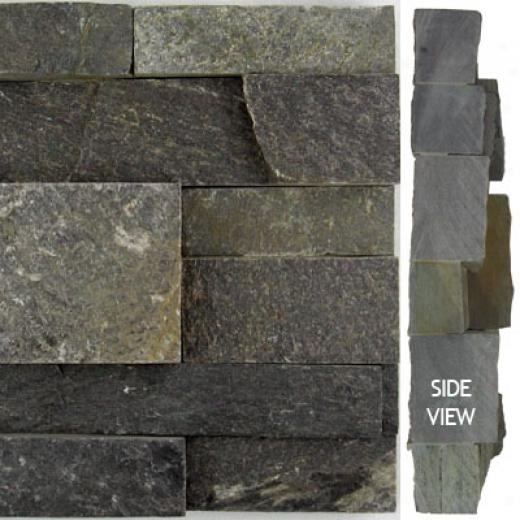 Norstone Stack Stone Charcoal Tile & Stone