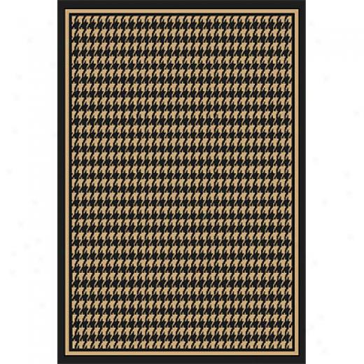 Orian Rugs Fiero 8 X 11 Houndstooth Black Area Rugs