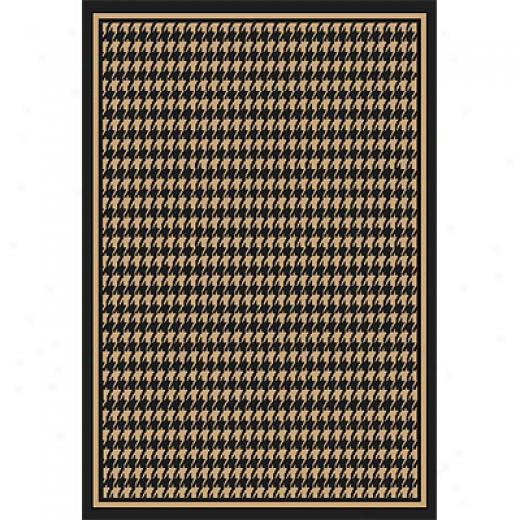 Orian Rugs Fiero 8 X 11 Houndstooth Black Area Rugs