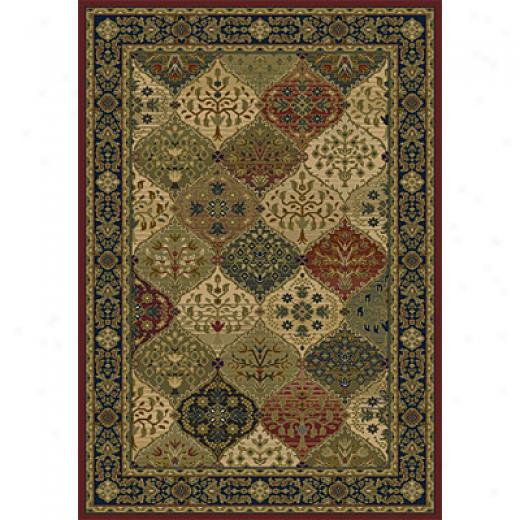 Orian Rugs Magic 2 X 3 Cathedral Merlot Area Rugs