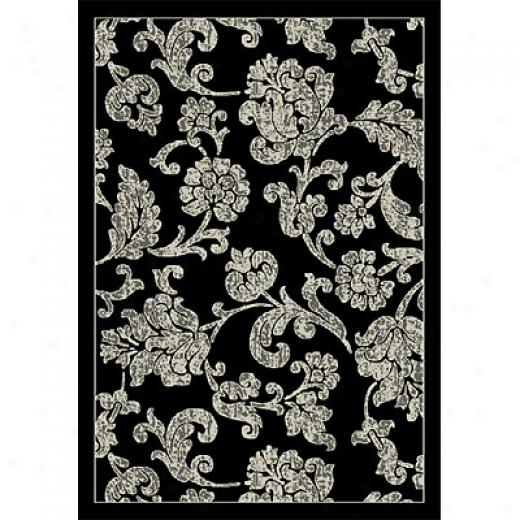 Orian Rugs Magic 2 X 7 Hawaii Black Area Rugs
