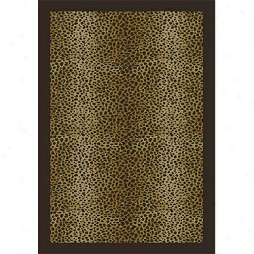 Orian Rugs Magic 4 X 5 Leopard Spots Mink Area Rugs