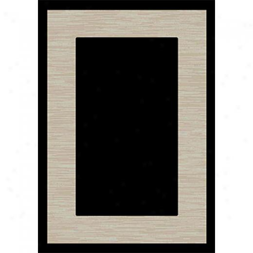 Orian Rugs Matic 7 X 10 Edge Black Area Rugs