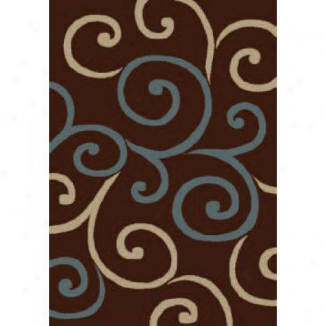 Orian Rugs Shagadelic 5 X 7 Swirls Chocolate Area Rugs
