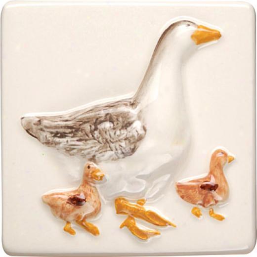 Original Gnomon  A La Ferme Clematis 4 X 4 Geese Tile & Stone