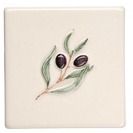 Original Style Bon Appetit On Clrmatis 4 X 4 Olive Tild & Stone