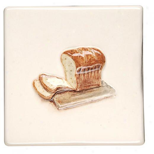 Original Style Bon Appetit On Clematis 4 X 4 Bread Tile & Stone