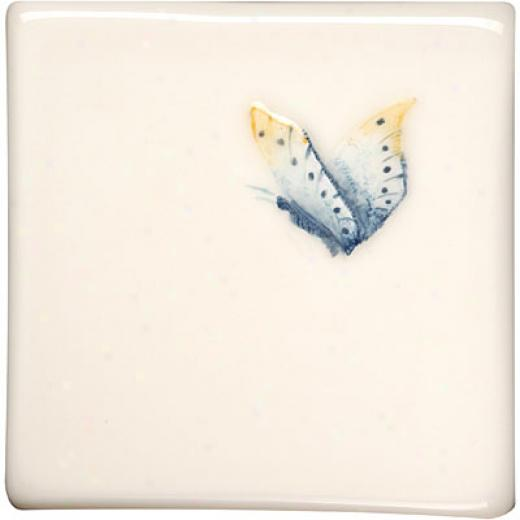 Original Style Butterflies Clematis 4 X 4 Admiral Tile & Stone