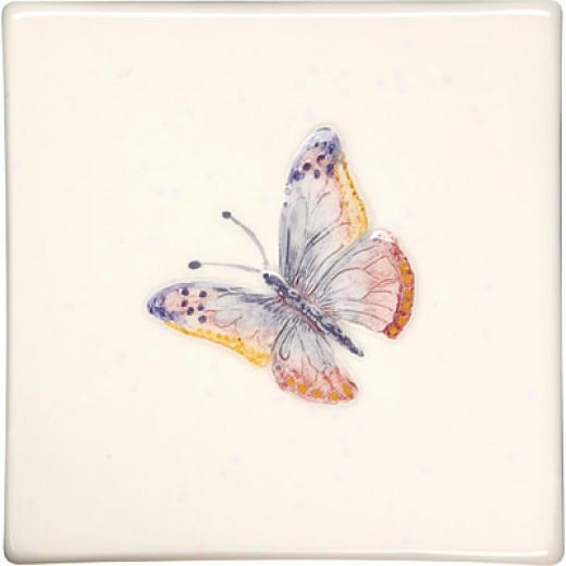 Original Style Butterflies Clematis 4 X 4 Painted Lady Tile & Stone