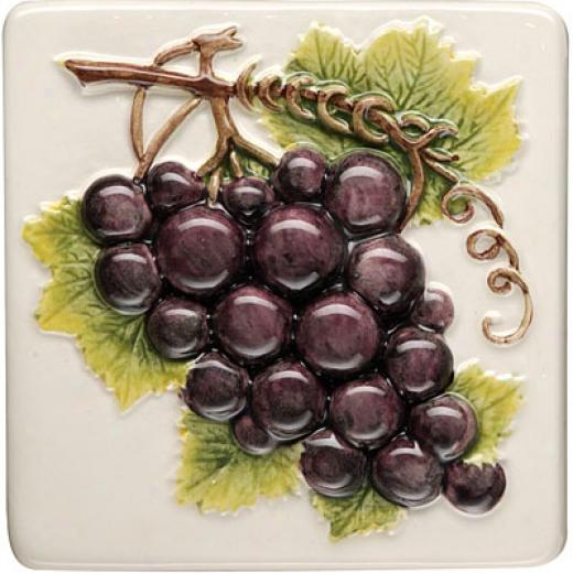 Orifinal Syle Coupe De Fruits Clematis 4 X 4 Black Grapes Tile & Stone