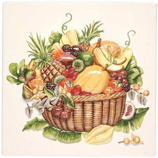 Original Style Fruits Exotiques Mode of procedure Painted 12 X 12 Exotic Fruits Palque Tile & Stone