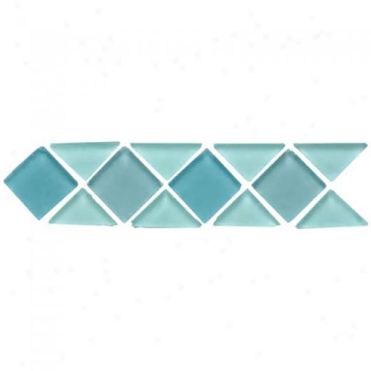 Original Style Large Triangle & Square Tumbled Glass Borders Victoria Tile & Adamant