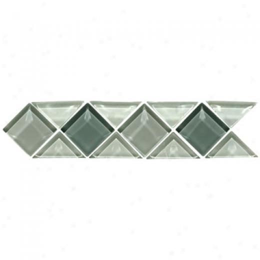Origina1 Style Large Triangle & Square Clear Glass Borders Victoria Tile & Stone