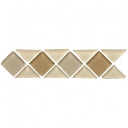Original Style Big Triangle & Square Tumbled Glass Borders Mweru Tile & Stone