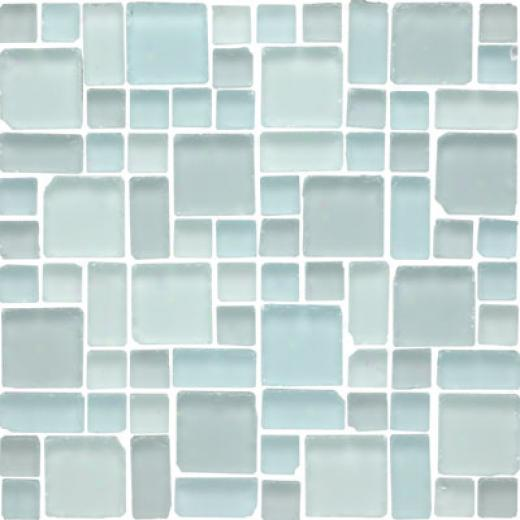 Original Style Random Pattern Clear & Frosted Mosaic Volta Tile & Gem