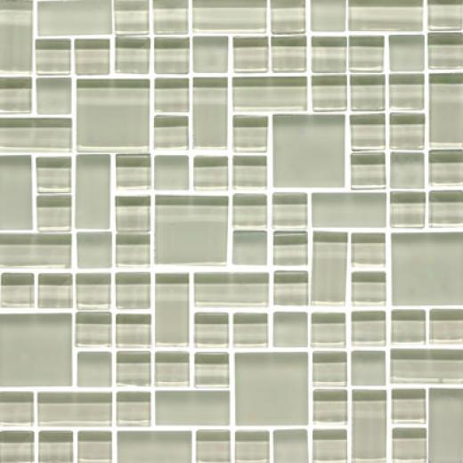 Original Style Rand0m Pattern Clear & Frosted Mosaic Cypress Tile & Stone