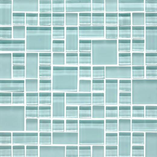 Original Style Random Pattern Cleaar & Frosted Mosaic Angelina Tile & Stone