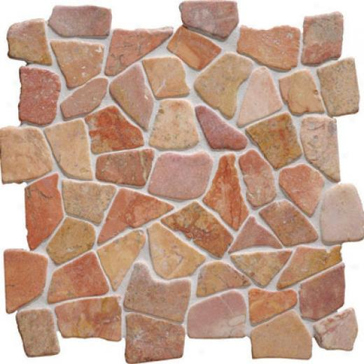 Original Style Rustic Mosaic Ruatic Red Tile & Rock