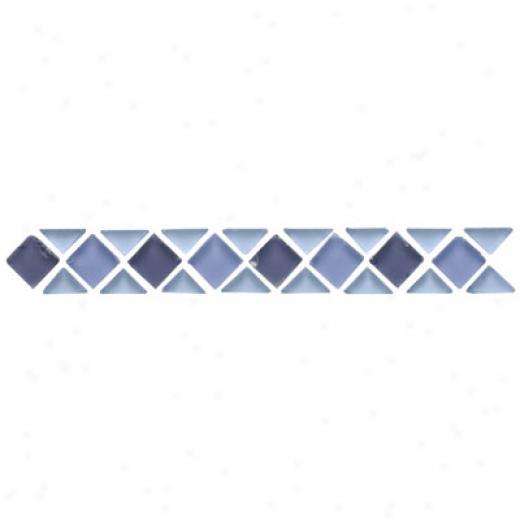 Original Style Small Triangle & Square Tumbled Glass Borders Calcasieu Tile & Stone