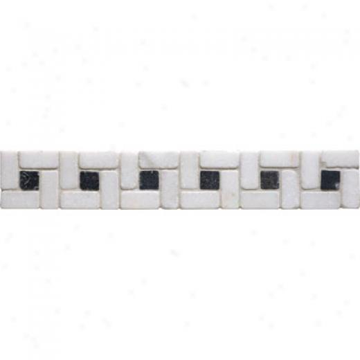 Original Style Stone Borders Red Athenian Scroll Tile & Stone