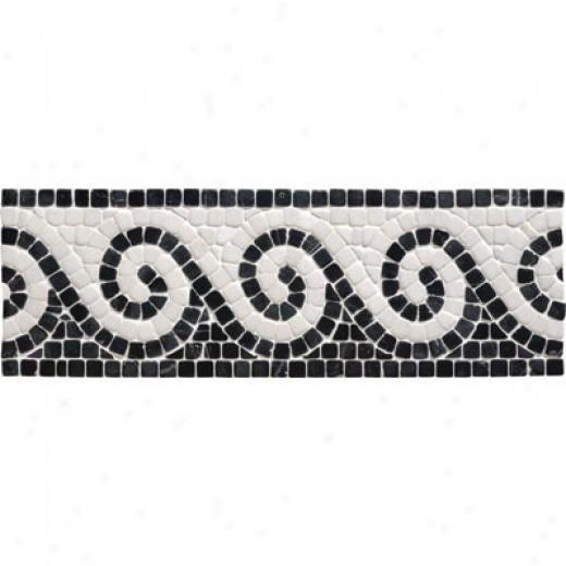 Original Style Stone Bkrders Black Athenian Scroll Tile & Stone