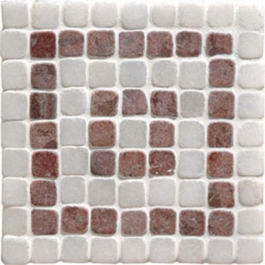 Ofiginal Style Stone Borders Red Athenian Key Corner Tile & Stone