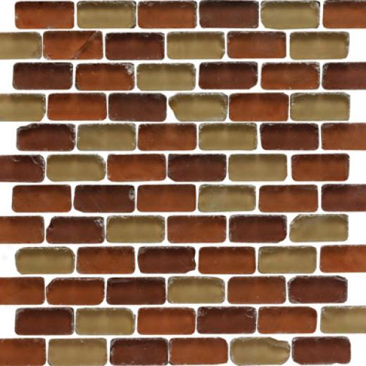 Original Style Tumbled Earth Mixed Brickbond Mosaic Tanganyika Tile & Stone