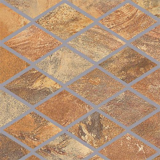 Porcellana Di Rocca Opus Slate Large Rhomboid M0saic Gold Tile & Stone