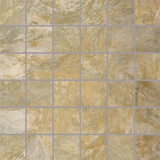 Porcellana Di Rocca Opus Slate Mosaic 2 X 2 Salvia Tile & Stone