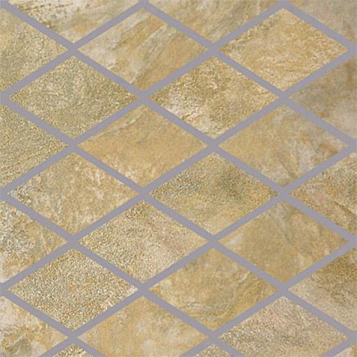 Porcellana Di Rocca Opus Slate Large Rhomboid Mosaic Salvia Tile & Stone
