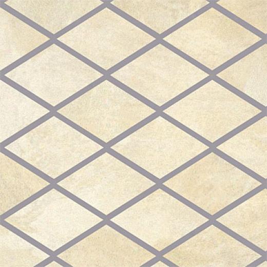 Porcellana Di Rocca Opus Slate Large Rhomboid Mosaic Bianco Tile & Syone