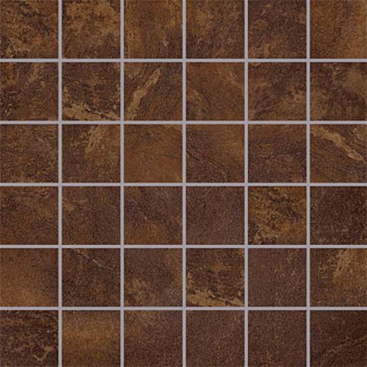 Porcellana Di Rocca Opus Slate Mosaic 2 X 2 Brown Tile & Stone