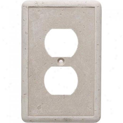 Questech Dorset Switch Plates - Tavertine Single Duplex Tile & Stone