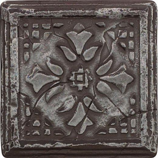 Questech Minted Metals Deco 4 X 4 Hermitage Deco Nicke Tils & Stone