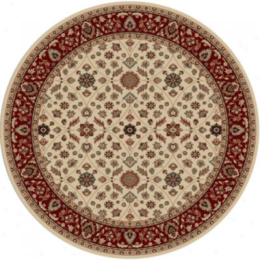 Radici Usa Biltmore Ii 8 Rounc Ivory Red Area Rugs