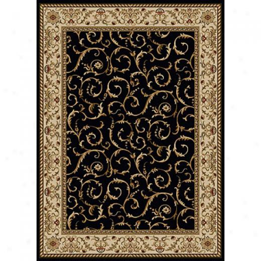 Radici Usa Como Vi 10 X 13 Black Area Rugs